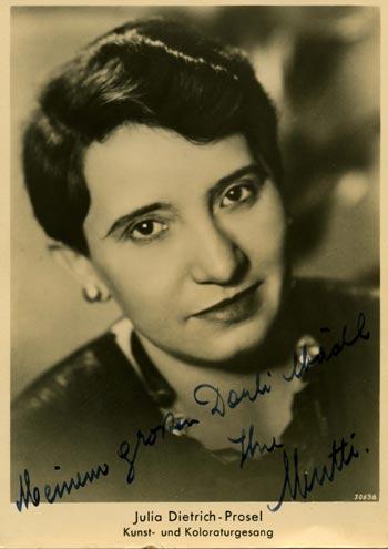 Julia Prosel, Koloraturgesang