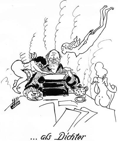 Theo als Dichter (c) Resi Prosel Nachf.